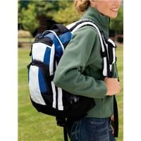 """Port Authority Urban Backpack    The latest in style and utility for urban excursions-with thoughtful features to make it useful on the trail. 100% polyester ripstop with contrasting 600 denier polyester for reinforcement Loaded with organizer pockets Padded computer case MP3-player pocket with hole for earphones Waist and chest straps for hiking Dimensions: 17""""w x 19""""h x 8.25""""d; Approx. 2,665 cubic inches    Product code: BG77  $38.98"""