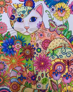 Creative Haven Creative Cats By Marjorie Sarnat Chari Tea Color