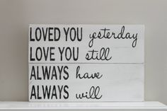 Love Quote Wood Wall Art Sign Vintage Style by InMind4U on Etsy, $43.50