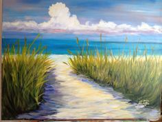 Coastal Art 24 x 30 acrylic original by by JulieDeRiceArtWork, $400.00 1 available