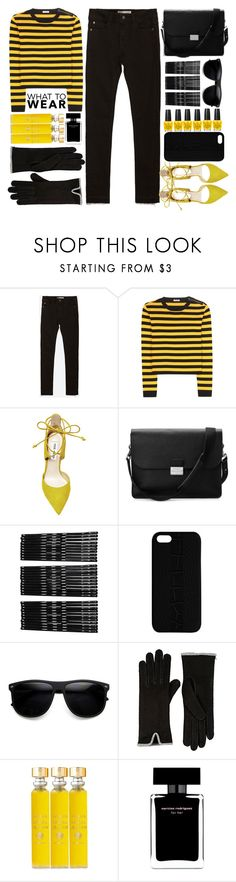 """Adele Concert Spring Black Jeans Yellow Top"" by jiabao-krohn ❤ liked on Polyvore featuring Zara, Miu Miu, Steve Madden, Aspinal of London, Monki, Maison Takuya, Barneys New York, Acqua di Parma and Narciso Rodriguez"