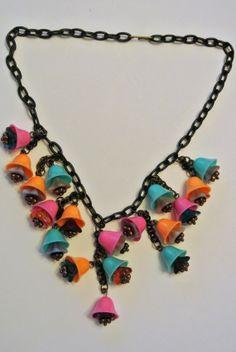 Vintage Fantasy Bell Necklace $58.00