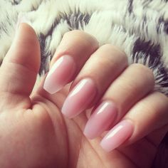 Soft pink coffin tip nails