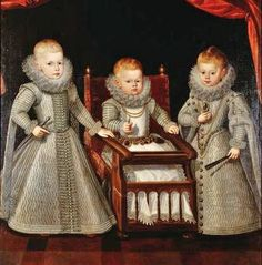 Bartolomé González y Serrano (1564–1627) Kardinal-Infante Ferdinand (1609-1641), son of king Philip III., with his brother and sister Infant Alfonso (1611-1612) and Infanta Margareta (1610-1617), 1612 - Kunsthistorisches Museum Wien, Gemäldegalerie