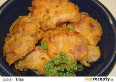 Křupavé kuřecí řízečky recept - TopRecepty.cz Cauliflower, Food And Drink, Treats, Chicken, Vegetables, Recipes, Party, Diet, Sweet Like Candy