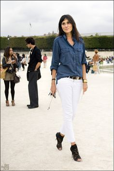 Paris Outfits, Summer Outfits, Fashion Outfits, Summer Clothes, Work Outfits, Style Fashion, Emmanuelle Alt Style, Parisian Chic Style, Skinny Jeans Style