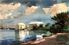 Salt Kettle, Bermuda Artist: Winslow Homer Completion Date: 1899 Style: Realism Genre: cityscape Technique: graphite, watercolor
