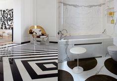 carrelage noir et blanc couleur de coulis