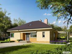 Projekt domu Flo III - wizualizacja frontowa