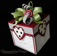 valentine makeover for an exploding box!
