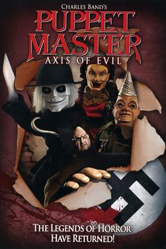 In a Stateside hotel during the height of World War II, Danny Coogan finds a crate of mysterious living puppets and must fight with them to stop an Axis of Evil. Creepy Movies, Sci Fi Movies, Action Movies, Movie Tv, Horror Movie Posters, Horror Movies, Horror Icons, Legends Of Horror, Full Moon Pictures