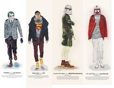 "Illustrator John Woo's playful He Wears It series embraces the forces of fashion, putting the Star Wars cast in contemporary brands. The illustration series pairs characters with Woo's favorite brands, carefully selected to match the look and personality of the different characters. He says the hardest to design for was Jar Jar: ""I had to totally change his image and still had to match his face and body."" If you are more of a Star Wars nerd than a fashion nerd, it's a mini-education to look…"