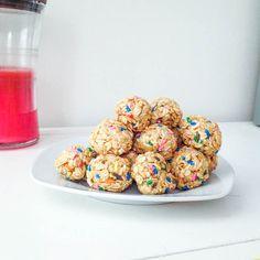 Cake Batter Granola Bites