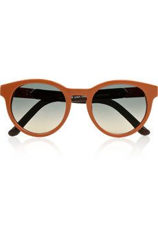 The Row Round-frame leather-trimmed acetate sunglasses | THE OUTNET