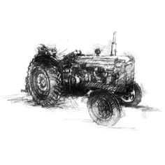 Fine Art Drawing, Art Drawings, Sketch A Day, Shop Art, Uk Shop, Surface Design, Tractor, Giclee Print, Monster Trucks