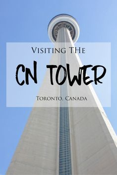 Visiting the CN Tower in Toronto, Canada >> Traveling to Toronto? The CN Tower is a must-do! The CN Tower is a tall and impressive tower and landmark in Toronto, Canada. Check out my blog post to read about my experiences while visiting the CN Tower and get some photo inspiration for your next trip there!