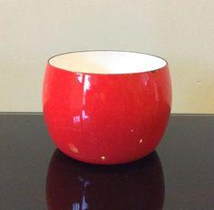 Dansk International Designs France IHQ Red Enamel Kobenstyle Nesting Bowl