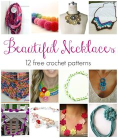 Fiber Flux: Beautiful Necklaces! 12 Free Crochet Patterns...