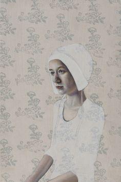 Pippa Young. Nascent Murmur. Oil on panel. 30x20cm. £700. Beaux Arts Bath