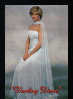 Princess Diana, Dress and Scarf, Darling Diana --- Trading Card, Not a Postcard | eBay