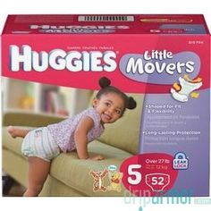 Kimberly Clark - 40808 - HUGGIES Little Movers Diapers, Step 5, Big Pack