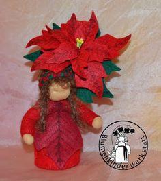 Blumenkinder-Werkstatt: Weihnachtsstern, Poinsettia