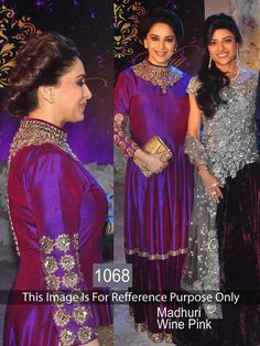 buy saree online Madhuri Dixit Wine Georgette Bollywood Inspired Gown Buy Saree…