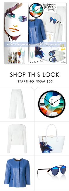 """""""DSQUARED 2, Shoes & Tote"""" by deneve ❤ liked on Polyvore featuring Marni, Dsquared2 and Christian Dior"""