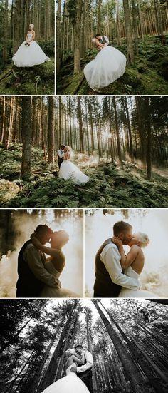 After Wedding Shooting im Wald. Fotos: Oleg Trushkov
