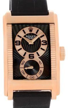 Rolex Rolex Cellini Prince Black Dial 18K Rose Gold Mens Watch 5442 Mens  Rose Gold Watch 8a5f3755b099