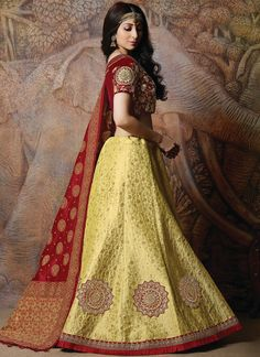 Buy online from largest collection of indian lehenga choli. Buy this praiseworthy silk embroidered work designer lehenga choli. New Lehenga Choli, Banarasi Lehenga, Lehenga Choli Online, Indian Lehenga, Anarkali, Wedding Lehenga Designs, Choli Designs, Dresses Kids Girl, Long Blouse
