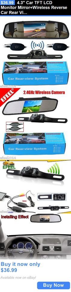 Rear View Monitors Cams and Kits: 4.3 Car Tft Lcd Monitor Mirror+Wireless Reverse Car Rear View Backup Camera Kit BUY IT NOW ONLY: $36.99