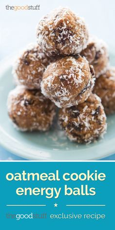Oatmeal Cookie Energy Balls (Exclusive Recipe) | thegoodstuff