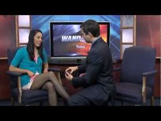 Newsman Proposal  Illinois news anchor surprises girlfriend with live proposal