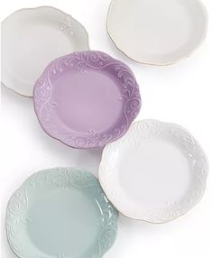 Lenox Dinnerware, French Perle Collection & Reviews - Dinnerware - Dining - Macy's Casual Dinnerware, White Dinnerware, Dinnerware Sets, Lenox French Perle, Blue Dinner Plates, Sea Glass Colors, Stoneware Dinnerware, Tea Stains, China Patterns
