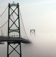 Foggy McDonald Bridge, Halifax Harbour, Nova Scotia (Chris Green)