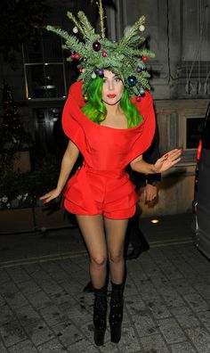 Lady Gaga is in the holiday spirit!