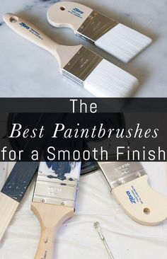 The Best Paintbrushes for a Smooth Finish - Erin Spain Diy Furniture Projects, Paint Furniture, Cool Diy Projects, Furniture Makeover, Furniture Design, Furniture Refinishing, Funky Furniture, Chalk Paint Brushes, Rustoleum Chalk Paint