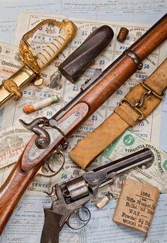 American Civil War Artifacts -                                                      A Confederate arsenal