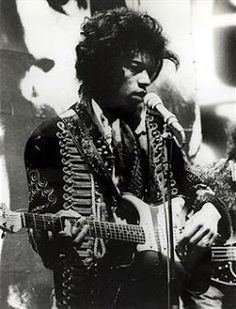 "The hussar's pelisse jacket was worn by Jimi Hendrix for some of his concerts in England when he lived there in the mid-1960s. The panache of the jacket fit perfectly with the persona of Jimi Hendrix. His hair even seemed to replace the bear-skin cap, his guitar or ""ax"" the weapon of choice."