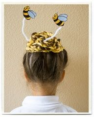 "Crazy Hair Day  ""bee"" hive"