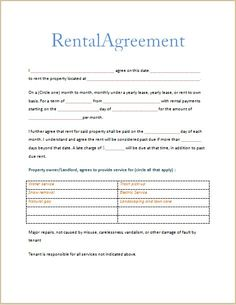 land rental contract template.html