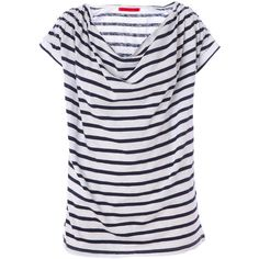 Velvet tops NAVY ($145) ❤ liked on Polyvore featuring tops, t-shirts, shirts, blusas, navy, velvet, navy blue striped shirt, striped t shirt, stripe shirt and navy blue t shirt