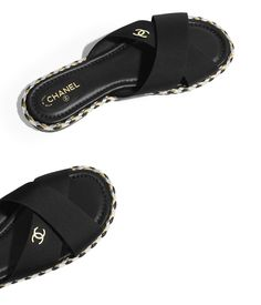Discover the latest collection of CHANEL Shoes. Explore the full range of Fashion Shoes and find your favorite pieces on the CHANEL website. Cute Sandals, Shoes Sandals, Summer Sandals, Chanel Fashion, Fashion Shoes, Sock Shoes, Shoe Boots, Chanel Mules, Chanel Slippers