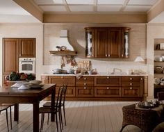 Walnut wood kitchen idea -- Taylor Collection from Aran Cucine Walnut Wood, Traditional Design, Cool Kitchens, Cupboard, Table, Furniture, Italian Kitchens, Home Decor, Kitchen Ideas