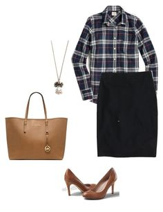 """Untitled #138"" by smag on Polyvore featuring J.Crew, Lands' End and Michael Kors"