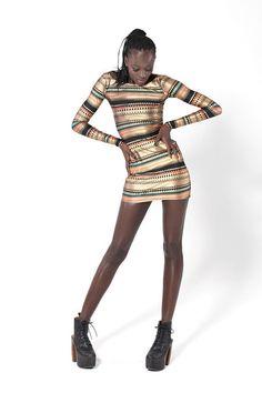 Nairobi Long Sleeve Dress from blackmilkclothing.com @Black Milk