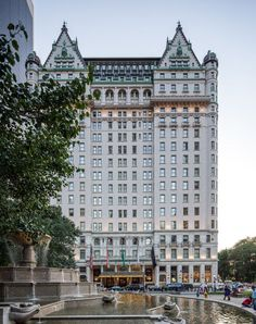 The Plaza Hotel at 59th, Fifth & Central Park South. The lobby is amazing. Go in and walk through even if you don't want to have a drink or it's not your lifestyle or in your pocket book.