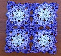 Lacy Flower Square ~Free Crochet Pattern.