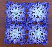 Lacey Flower Square ~ Free Crochet Pattern